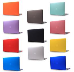 Promotion macbook shell 13 Ultrathin intelligente Shell satin mat dur caoutchouté Cover Case ForApple Macbook Vitrine Pro / Retina 11 13 15 pouces