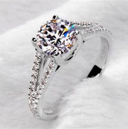 925 sterling silver double diamond inlay one karat Moissanite diamond ring female models genuine crystal gemstone rings fashion ring