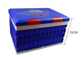 5PCS 45L Large Foldable Plastic Trunk Storage Box Car Storage Locker Folding Camping Finishing Boxes Automotive Supplies 68-2B 1896