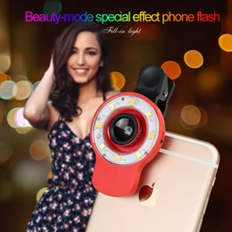 Wholesale 9in1 Special Effect Phone LED Flash Light Mobile Phone Lens Night Using Beauty Selfie Sycn Flashlight for Camera Phone Tablet