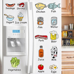 Wholesale Kitchen Fruit Wall Sticker Decal Kitchenware Wall Tile Stickers for Kitchen Home Decorations Wall Decal Wallpaper
