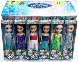 Wholesale Z Q LOTNew style box kid toys Frozen Mini Elsa Anna Princess dolls inflatable reborn juguetes for Girls birthday gift