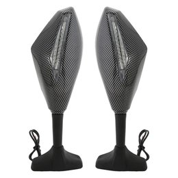 Motos sportives carénage en Ligne-Miroirs pour carénage Moto Sport Moto Arrière Side Integrated LED Signal Carbon Look