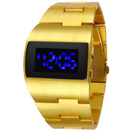 Hot Iron man aircraft Blue Red LED Men's Man luxury Wrist Watches Cool and unique Bomber Design China watches