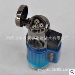 Wholesale Three Nozzle Large Fire Ignited Moxa Is A Mini Creative Personality Windproof Lighter Metal