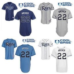 Wholesale 30 Teams Chris Archer jersey Tampa Bay Rays Chris Archer Jersey white blue gray jersey size small S xl