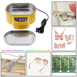 Wholesale 30W W V New Professional Mini Ultrasonic Cleaner for Jewelry Glasses Circuit Board Watch CD Lens With LED Display E0721
