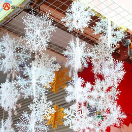 Wholesale White Snowflake Ornaments Christmas Holiday Festival Party Home Decor cm Colorful Drawing Winding Sheet of Snow
