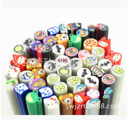 Wholesale New Nail Art Fruit Fimo Canes Rods Sticks Sticker Decoration Lovely DIY Cane mixed fimo Polymer Clay mm Mix Color