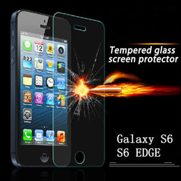 Wholesale For Galaxy S6 EDGE S3 S4 MINI S5 MINI A7 Tempered Glass Screen Protector Film for apple iPhone5 s GALAXY AVANT G386T Glass