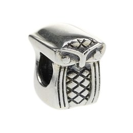 Wholesale Beads Hunter Jewelry Authentic Sterling Silver Academic Owl Charm fashion Jewelry big hole bead For mm European Bracelet snake chain