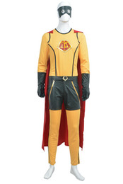 Wholesale 2015 Wonder Pancakes man Halloween Cosplay Customes Suits Fashion Christmas Costumes Superhero Party Outfit Theme Costume