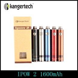 Wholesale Original Kanger IPOW2 mAh Twist VW Battery Ajustable Wattage W W v IPOW I POW IPOW OLED fit Subtank Atlantis