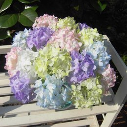 Lovely Realistic Light Purple Mini Hydrangea Artificial Fake Flower Arrangement Home Hotel Decoration