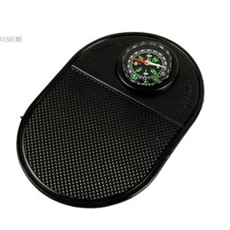 Wholesale New car accessorise New Multi function Car Auto Compass Nonslip Mat Black Color