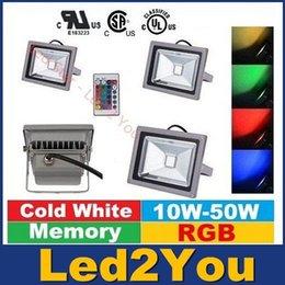 Descuento cree llevó la garantía CREE llevado al aire libre los reflectores 10W 20W 30W 50W RGB blanca caliente / fría Led luces de inundación del Proyecto Lámparas de CA 110-240 V Garantía 3 años