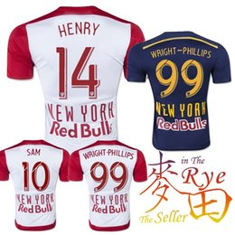 Wholesale Cheap New York Red NY Bulls Jersey Soccer Home White Away Blue HENRY MCCARTY KLJESTAN SAM Football Shirt Camiseta Futbol Maillot