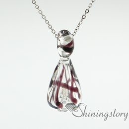 Wholesale glass urn necklace urn necklace uk cremation urn jewelry pet memorial necklace pet urn necklaces lockets for ashes