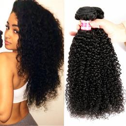 Promotion 27 bouclés ombre 8A Cheveux brésiliens chevronnés Cheveux ondulés Ombre tissés # 1b / 27 Jerry Curly 3Pcs / Lot Virgin Human Hair Extensions Livraison gratuite