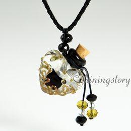 small perfume bottles lampwork glass aromatherapy pendants vial pendants necklaces