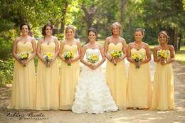 Elegant Yellow Cheap Bridesmaid Dresses Long Vestido De Fiesta Zipper 2015 Maid Of Honor Dress Custom Made Long Formal Dresses