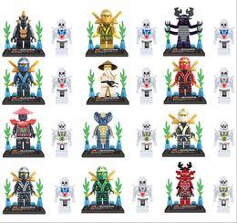 Wholesale 24pcs set Ninjago Cole Jay Kai Lloyd Ninja Building Blocks DIY Bricks Toys Compatible with minifigure Lele Figures