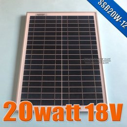 Wholesale 20W V Polycrystalline silicon Solar Panel used for V photovoltaic power home system Watt WP VDC PV Poly solar Module