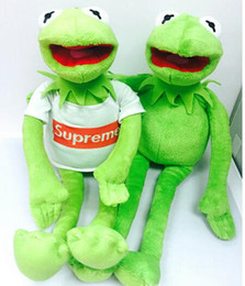 Wholesale Sesame Street The Muppets Kermit Stuffed Plush Dolls Toys with T shirt Frog plush toy doll for gift with iron wire CM