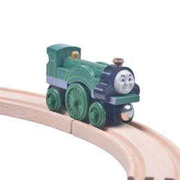 Wholesale Fashion baby toys Wooden Tomas and Friends railway train track set Emily Train head