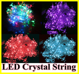 10pcs 10m 100 LED lights Crystal Cherry Blossom Rope String Lights Christmas Lights Garland with plug for Garden Wedding Luminaria Decor