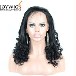 JOYWIGS 100% Real Unprocessed Human Hair Wig with Baby Hair Brazilian Virgin Glueless Spiral Curl Lace Wig Lace Front Wig