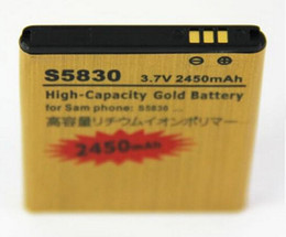 Wholesale Excellent Quality High Capacity mah Gold replacement Battery for Samsung Galaxy Ace S5830 for samsung S5830 Epacket to US