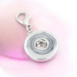 Wholesale Snap Jewelry Charm Interchangeable DIY Dangle Charm 18mm Button Snap Pendant for Snap Bracelet Necklace Locket