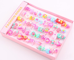 Wholesale Children Kids Girls Cartoon Hello Kitty Ring lovely animation cartoon child Resin ring jewelry jewellery JJAL