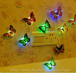 Noche de mariposa en venta-Colorido de fibra óptica de la mariposa de la mariposa Nightlight LED luz de la noche para la noche de bodas Sala Luz para habitaciones de niños