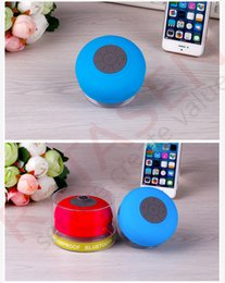 Wholesale Portable Waterproof Wireless Bluetooth Speaker mini Suction IPX4 speakers Shower Car Handsfree Receive Call Music Phone Multicolor