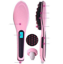 Wholesale Super Cool Magic Hair Comb Brush Beautiful Star Hair Straightener Flat Iron Combs With LCD Display Electronic Temprature Adjustable Straight