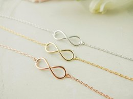 30PCS- B018 Gold Silver Unique Simple Infinity Bracelets Men Cute One Direction Infinite Bracelet Number Figure 8 Eight Bracelet