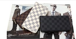 Wholesale Male genuine leather long design zipper wallet fashion women s casual day clutch card holder wallet