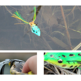 Fast free Shipping Dead-Eye 65mm 11g Soft Bass Crankbait Topwater Frog Fishing LureTackle Hook Crank Bait Bass free shipping