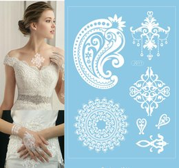 Wholesale New arrival white henna temporary tattoo sticker guangzhou online the factory price popular selling tattoo