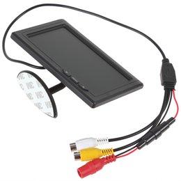 Lcd moniteur d'affichage vidéo en Ligne-8pcs 4,3 pouces 480 x 272 couleur TFT LCD écran 2 canaux vidéo entrée voiture arrière vue moniteurs appuient multirôle affichage CMO_332