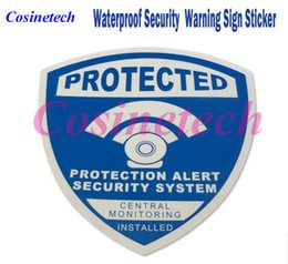Wholesale 5 Decals Waterproof alarm Sticker Warning Sign Security Surveillance CCTV camera DVR Anti theft alarm Warning Sign Sticker