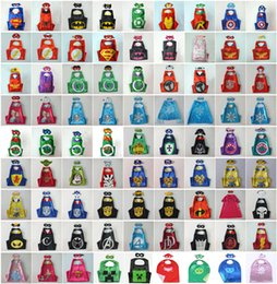 Wholesale 98 styles Double Side Superhero Capes mask The Avenger Ninja Star Wars cape mask set My Little Pony Frozen Cinderella for Kids CM