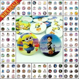 Wholesale DHL EMS Inside Out Lalaloopsy Minions My Little Pony Minecraft Marvel s The Avengers Cartoon Pins Buttons Badges MM Brooch Badges