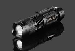 Wholesale Hot sale MINI ZOOMABLE W CREE Q5 LED Lumen mode X AA Flashlight Torch Zoom Lamp Light