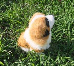 Wholesale Factory direct simulation animal fur simulation crafts St Bernard dog high CM long CM