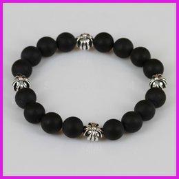 Wholesale Stretch Bracelet Connectors - Wholesale-1pc lot New Natural Black Incense Beads Power Bracelet,Sliver Connector Stone Bead Charm Stretch Bracelet Men Or Women Jewelry