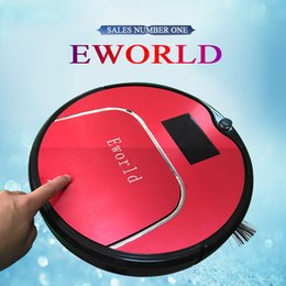 Wholesale Free to RUS Eworld Multifunction Robot Vacuum Cleaner Sweep Vacuum MopWater tank big mop Touch Screen Schedule Way Self Charge