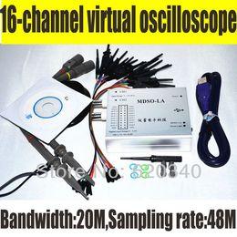Wholesale PC Analog Virtual oscilloscope Channel Logic Analyzer Bandwidth M Sampling rate M Circuit analysis debing tools